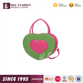 HEC OEM Order Available Small Cute Heart Shaped PU Leather Clutch Bag Handbag Wholesale