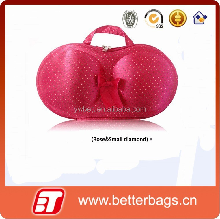 2015 new design stock wholesale travel bra and panty bag with tag logo