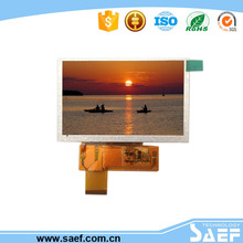 5 inch tft lcd module with High Brightness 480*272 screen mobile phone lcd module