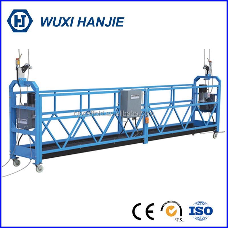 Building painting powered suspended platform zlp steel cradle lift