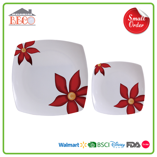 Maple Leaf Printed Plastic Melamine Dinner Plate Sets with Custom Printed