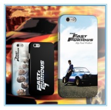 2015 new arrival USA popular movies custom logo FAST FURIOUS 7 phone case cover for iphone 6