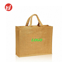 High quality large size food grade shopping jute bag tote