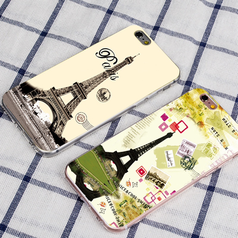 Paris Eiffel Tower case for iPhone7 plus for ladies soft case bulk cell phone case