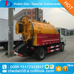 9000L Dongfeng 4x2 Suction Sewer Cleaning Truck vacuum sewage suction truck