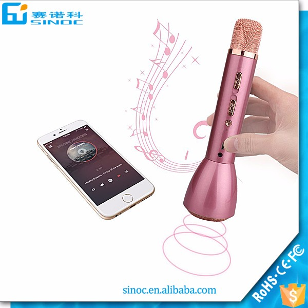 K098 Magic Karaoke Micropone K Song Portable Bluetooth Speaker For Outdoor KTV