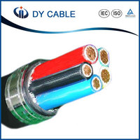 DY Cu / XLPE / PVC YY / SY LSHF / LSZH Unscreened Steel Wire Braid Auto Flexible Control Cable