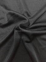 Stock 100% silk filament Silk double jersey in black color soft feeling