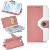 wallet PU leather phone cover case for Samsung Note 2 with card slot.flip bag for Galaxy note 2 with stand function