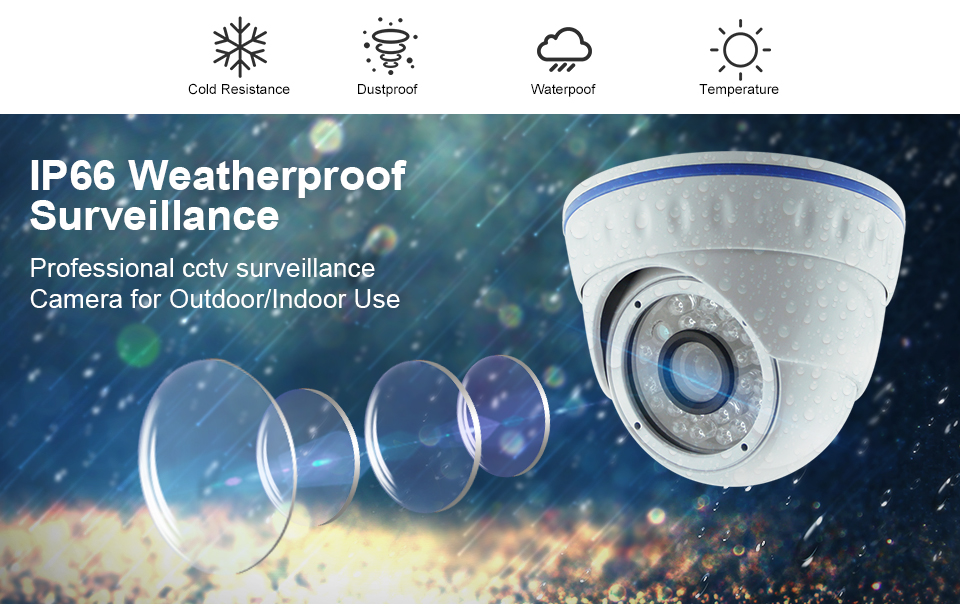 2018 Wholesale Security Camera 2MP 1080P IP Camera POE ONVIF with H.265+