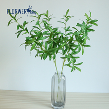 Flowerking Brand factory direct cheap green plant artificial evergreen branch artificial olive branch