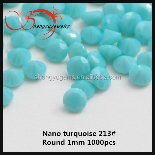 Hot sale gems for clothes1mm round semi precious stone gems nano stone