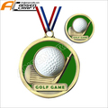 Antique Gold Golf Medals and Golf Toke Coins