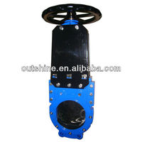 Non-rising stem knife gate valve PN10