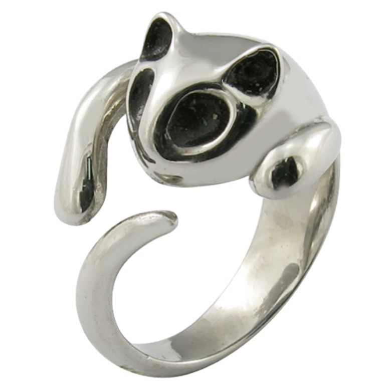 metal animal jewelry cute cat ring fashion fox ring marten rings
