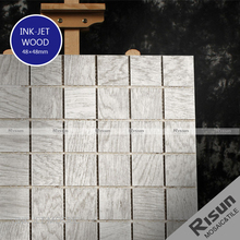 Wood grain ink-jet porcelain floor tile