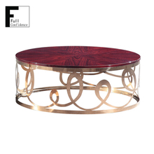 Rose Wood Pattern Top Coffee Table Hot Sale
