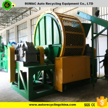 CE approved waste car/truck tire shredder