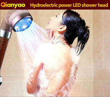 Cixi C-158-1LED Three Colors Flash Hydroelectric Power shower head