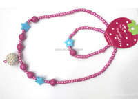 Wholesale fashion children beaded necklace,bead necklace designs
