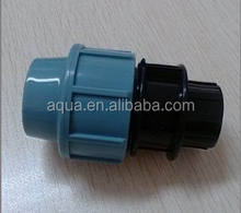DIN Standard PP compression fittings for irrigation, tee, reducing tee