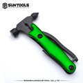 All in 1 black finsihed functional multi tools with safty hammer
