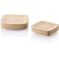 Round Eco-friendly Disposable Dinnerware Bamboo Plate