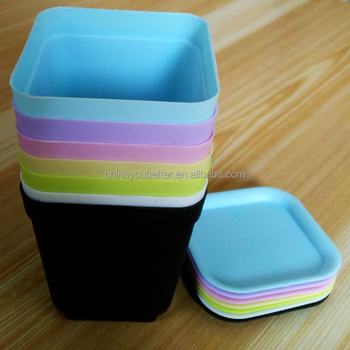 Small Flower pot Gardening Mini Plastic Pots Square Flower Bonsai Planter Nursery Pots