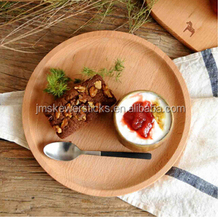customized beech wood plate