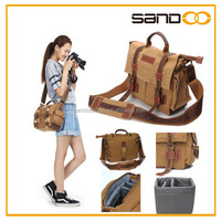 Vintage DSLR SLR Camera Messenger Shoulder Bag,canvas camera bag