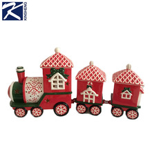 Hand painted outdoor ceramic christmas train for sale