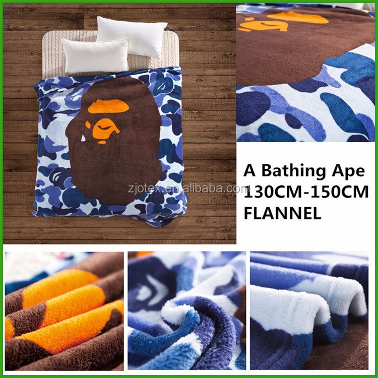 A Bathing Ape Hulk Baby Milo Fannel blanket Red Tide Brand bed blanket Marvel