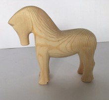 New design wooden horse craft for children