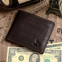 Top Quality Drop Shipping Top Grade Fashion 100% Genuine Leather 2014 Best Brand Men's Wallet #8015-3C
