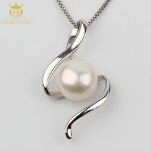 Classic S shape design 925 silver pearl freshwater jewelry