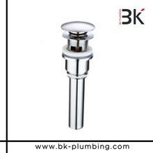 Superior quality click clack chrome bath basin waste slotted pipe fittings with overflow