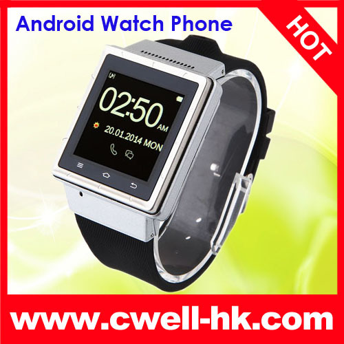 1.5 inch MTK6577 Dual Core s6 cell phone watch android