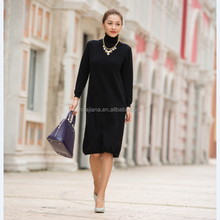 woman's cashmere knitting sweater dress