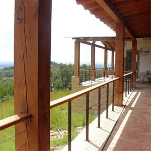 Wholesale terrace railing designs stainless steel cable railing for sale