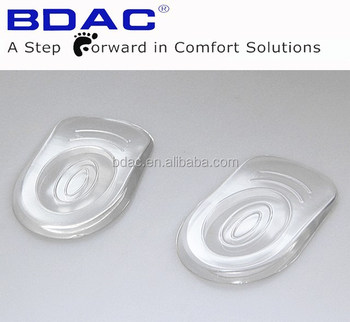 transparent sticky pu gel custom insole for heel spur insole board