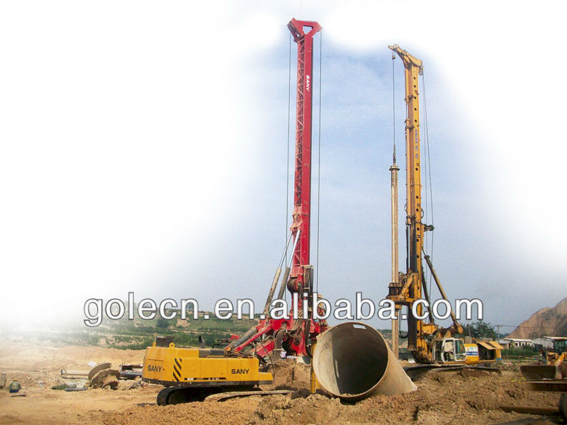 new type of foundation construction machine crawler hydraulic rotary drilling rig