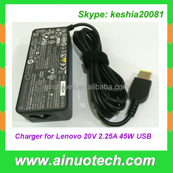 Yoga2 13 11 S1 K2450 X240S X230s E431 E531 T440p YOGA Laptop Charger for Lenovo 20V 2.25A 45W USB Adapter ADLX45NCC3A