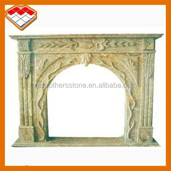 Natural marble stone type used electric fireplace for sale in guangdong