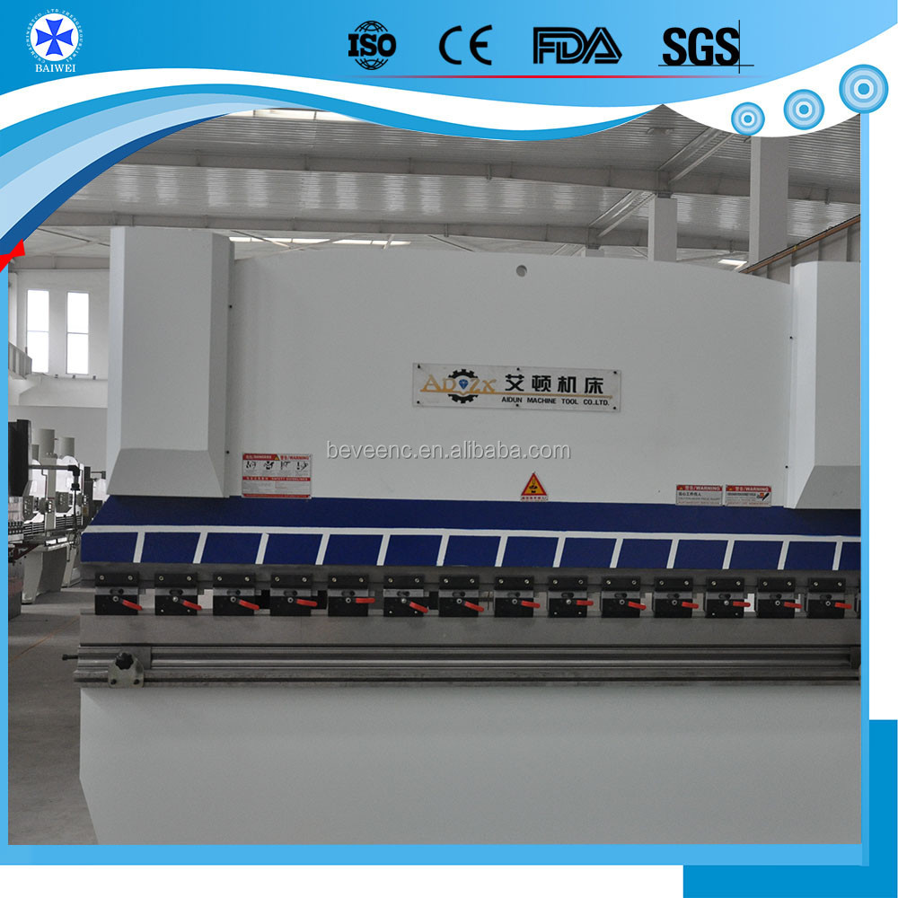 CNC control hydraulic press brake/plate bending machine/160t/6000mm/servo electric press brake on sale