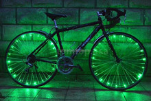 DIHAO waterproof hot wheel bicycle glow whee, led bicycle light with string