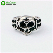 Punk Style 316L Stainless Steel Skull Biker Ring for men