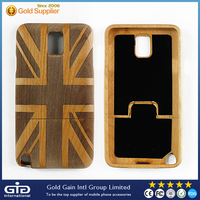 [GGIT] New Trend Amazing Real Nature Wood Backcover Case, Flag Pattern Wood Back Cover for Samsung for Note 3