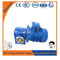 Large radial loading ability 90 degree aranging worm gear speed reducer with ac electric motor