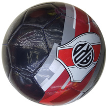 Hebei factory SM-4382 Model Black shiny 2.7mm PVC foam leather 2018 soccer ball
