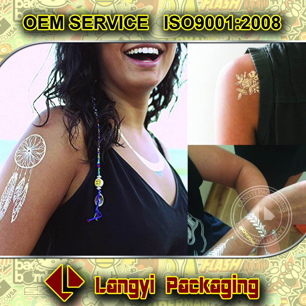 glitter tattoo sticker/Metallic Temporary Tattoo